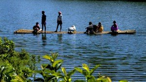 wayandu native fishers fishing in lake